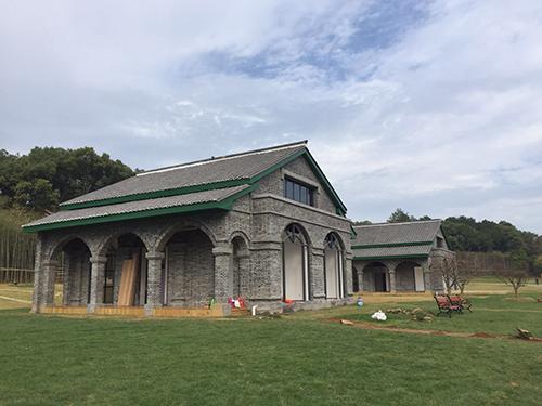 景德镇国家森林公园内新建的小屋